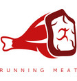 meat leg simple icon design template vector image