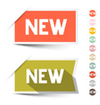New Retro Paper Labels - Stickers Set Isolated on vector image vector image