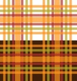 Orange and green plaid seamless background vector image vector image
