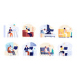 people dreaming dreamy man think work or home vector image vector image