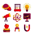 Physics and Astronomy Icons Set vector image vector image