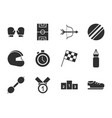 pictogram sport equipment related icons set vector image vector image