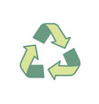 pretty environment symbol to recycle reduce and vector image vector image