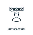 satisfaction outline icon thin line concept vector image vector image