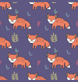 seamless pattern with foxes decorative background vector image vector image
