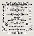 set of decorative design elements vector image vector image