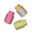 set of realistic plastic bottles mock up vector image vector image