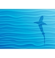 Shark silhouette in blue water vector image vector image