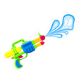 shooting water gun bright multi-colored children vector image vector image