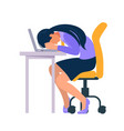 stressed and frustrated concept with exhausted vector image vector image