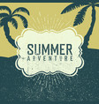 summer adventures poster summer beach party poster vector image vector image