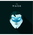 Superhero in a blue mask head into flat style vector image vector image