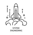 system engineering and rocket launch isolated vector image vector image