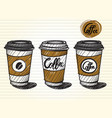 take out coffee cup vector image