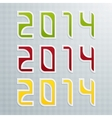 The Third Set of Colored Figures New Year vector image vector image