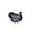 turkey thank you lettering typography vector image vector image