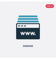 two color domains icon from web hosting concept vector image vector image