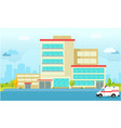 urban city hospital building flat vector image