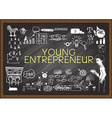 Young Entrepreneur on chalkboard vector image vector image