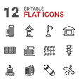 12 urban icons vector image vector image