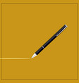 a black pen icon shiny metal written vector image vector image