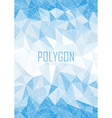 Abstract blue polygon background vector image vector image