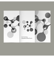 abstract molecular structure Cover vector image vector image