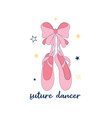ballerina shoes for t-shirt vector image
