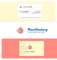 beautiful apple logo and business card vertical vector image