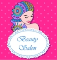 Beauty salon backgrondwith girl painted hair vector image vector image
