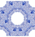 blue russian or chinese porcelain seamless pattern vector image vector image
