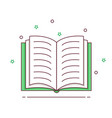 book icon signs and symbol vector image vector image