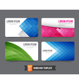 Business Card template set 001 vector image vector image