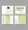 business templates presentation slides easy vector image