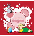 Card for kids congratulations vector image vector image