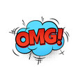 cartoon speech bubble with omg funny comic vector image