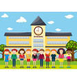 Children standing at the school ground vector image vector image