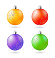 christmas decoration orange purple green red vector image vector image