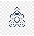 circus wagon concept linear icon isolated on vector image