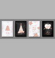 collection of elegant merry christmas cards vector image vector image