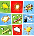 Comic speech bubbles and comic strip background vector image vector image