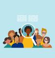 concept human resources management vector image