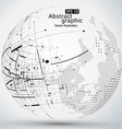 curve constructed the sphere wireframe vector image vector image