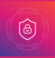 cybersecurity icon secure protection sign vector image vector image