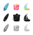 design of equipment and swimming symbol vector image