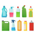 detergent bottles cleaning supplies products vector image