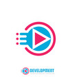 development - logo template concept vector image
