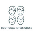emotional intelligence line icon linear vector image vector image