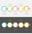 five step timeline infographic set colorful vector image vector image