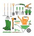 garden tool gardening equipment rake shovel vector image